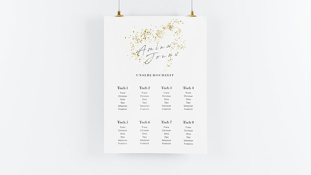 Sitzplan Hochzeit - Freudensprenkel
