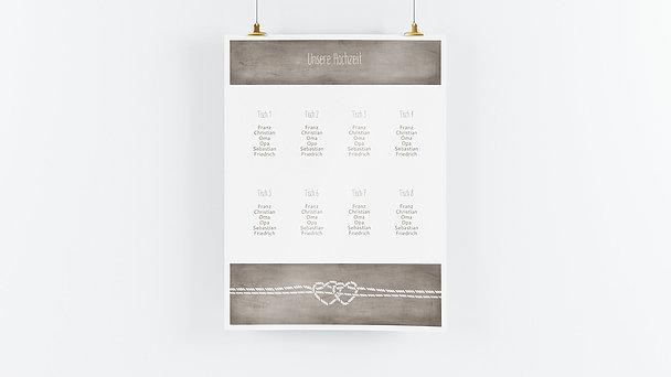 Sitzplan Hochzeit - Liebesknoten