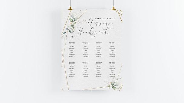 Sitzplan Hochzeit - Traumbouquet