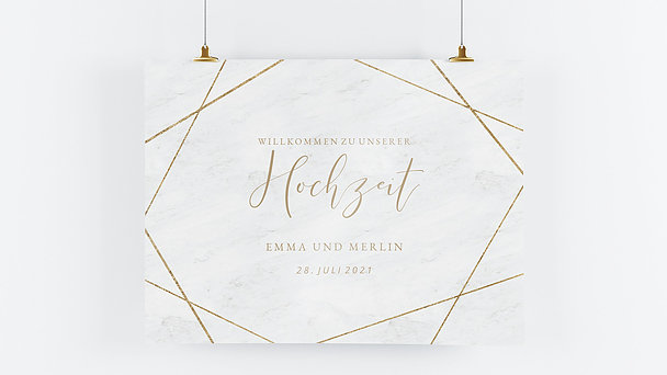 Wegweiser - Gold & Marmor