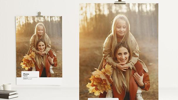 Wandbilder - Mamas starke Schultern