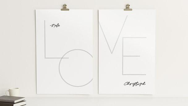 Wandbilder - Liebesinitialen