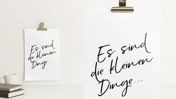 Wandbilder - Die kleinen Dinge