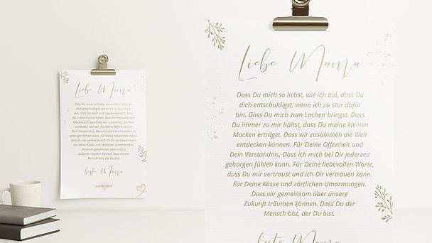 Wandbilder - Mein Liebesbrief