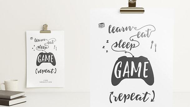 Wandbilder - It's a game