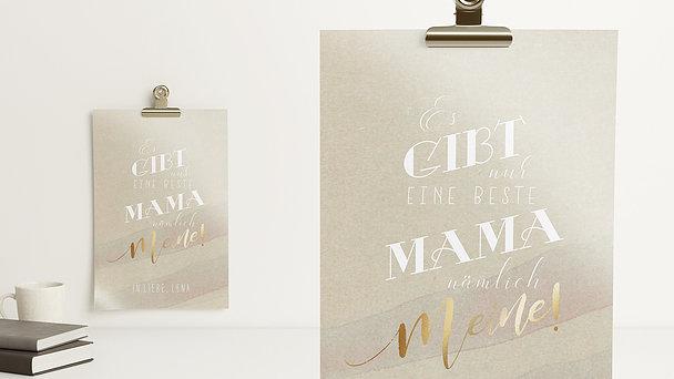 Wandbilder - Weltbeste Mama
