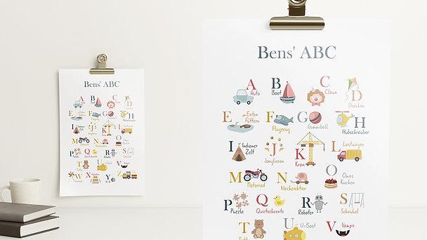 Wandbilder - Quer durchs ABC