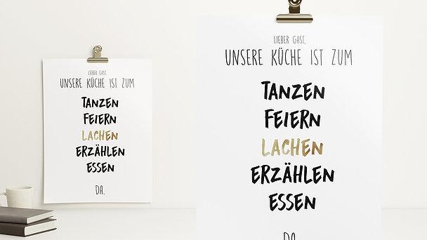 Wandbilder - Küchenregeln