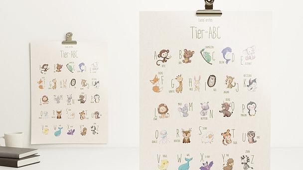 Wandbilder - ABC der Tierkinder