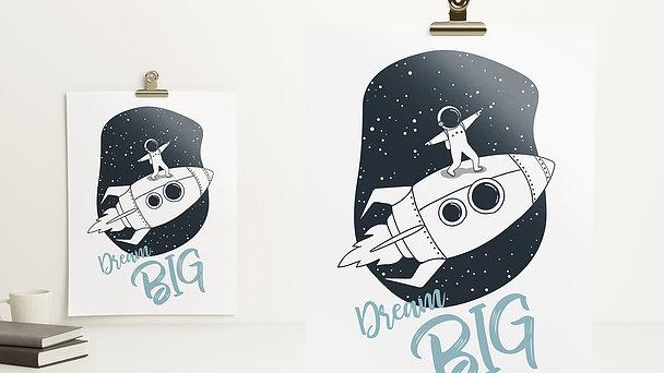 Wandbilder - Raketensurfer