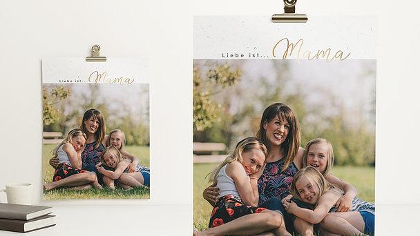 Wandbilder - Liebe ist Mama