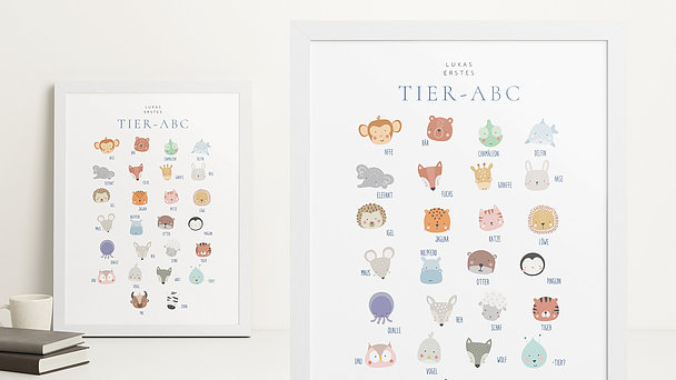 Wandbilder - Süße Tierkinder