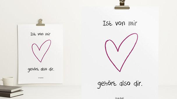 Wandbilder - Dein Herz