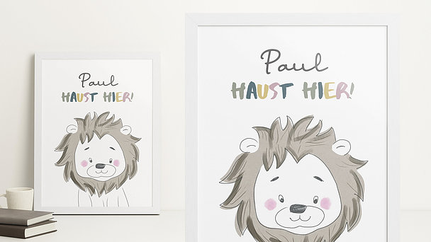 Wandbilder - Löwenstark