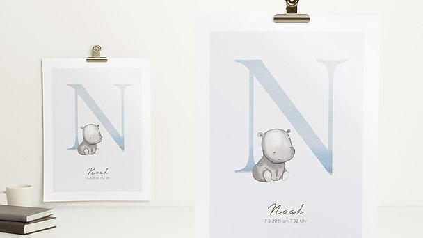 Wandbilder - Niedliches N