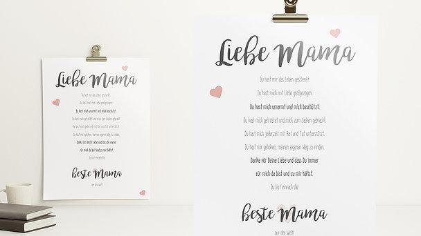 Wandbilder - Allerbeste Mama