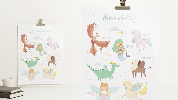 Wandbilder - Märchenlieblinge