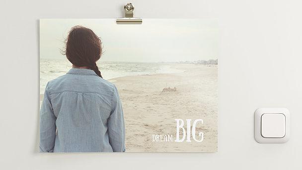 Wandbilder - Dream big