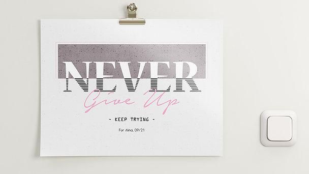 Wandbilder - Keep trying