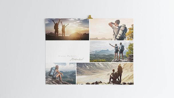 Wandbilder - Collage mit Text Horizontal