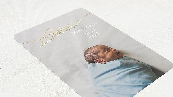 Danksagung Geburt - Im Babyglück