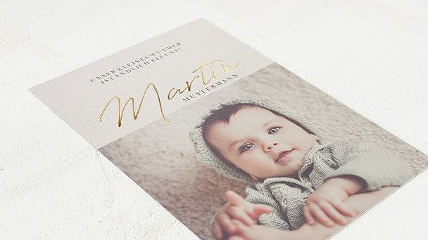 Danksagung Geburt - Kleines Wunder