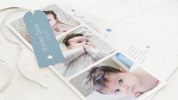 Danksagung Geburt - Baby Star