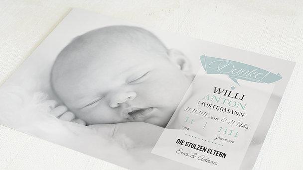Danksagung Geburt - Ankunft