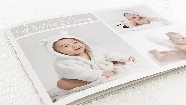 Danksagung Geburt - Babycollage