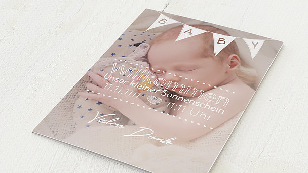Danksagung Geburt - Babywimpel