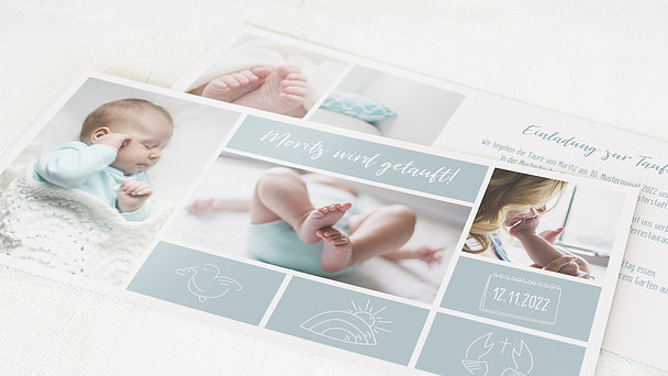 Taufkarten - Tiny big love