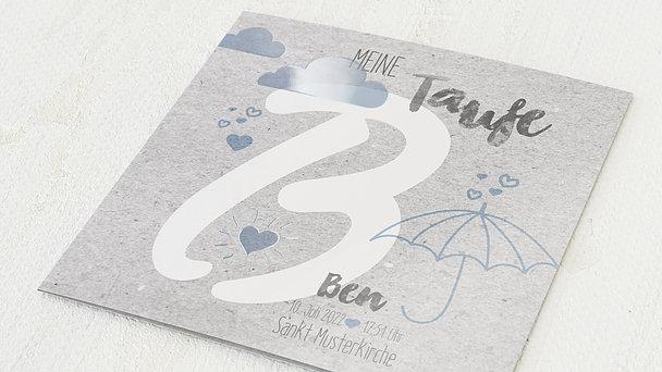 Taufkarten - Herzchenregen