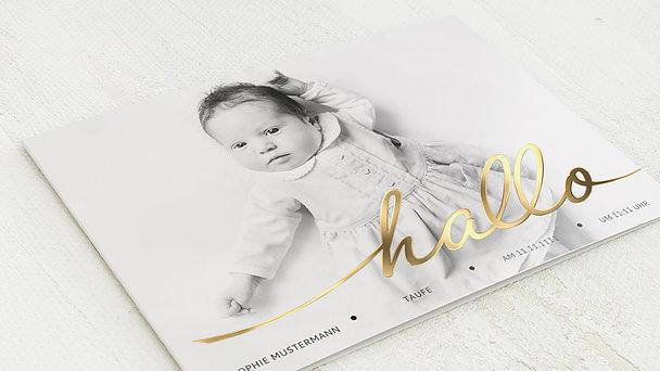 Taufkarten - Hallo Baby