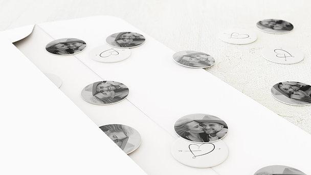 Konfetti im Umschlag - Cupidos Pfeil