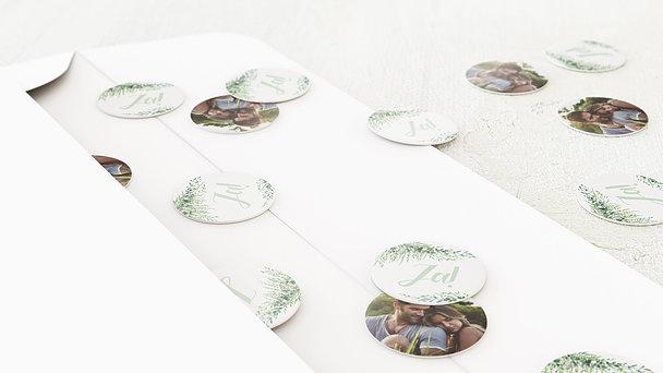 Konfetti im Umschlag - Grüne Pracht