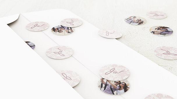 Konfetti im Umschlag - Pastellspitze