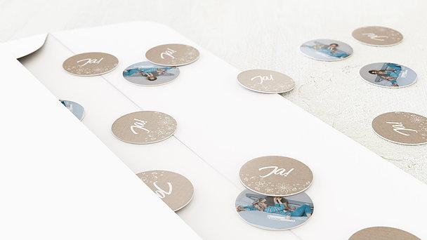 Konfetti im Umschlag - Blumenstil