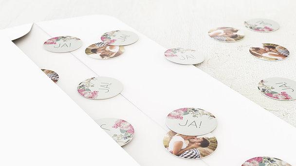 Konfetti im Umschlag - Blütenwalzer