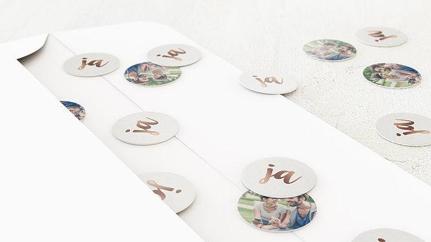 Konfetti im Umschlag - Edles Ja
