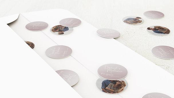 Konfetti im Umschlag - Zart getönt