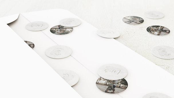 Konfetti im Umschlag - Gold & Marmor