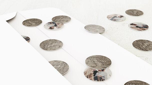 Konfetti im Umschlag - Unsere Weltkarte