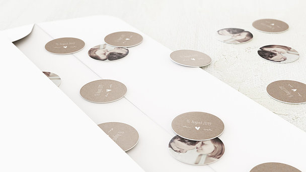 Konfetti im Umschlag - Rustique