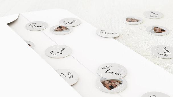 Konfetti im Umschlag - Lovey