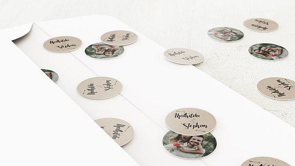 Konfetti im Umschlag - Kraftpapier