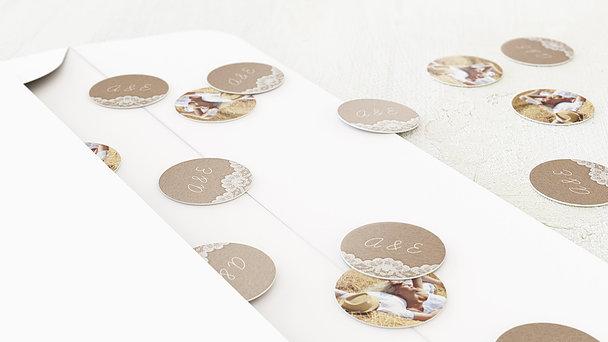 Konfetti im Umschlag - Hochzeitsspitze