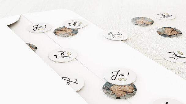 Konfetti im Umschlag - Zarte Ringe