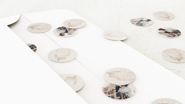 Konfetti im Umschlag - Soft pastel
