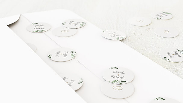 Konfetti im Umschlag - Edles Grün