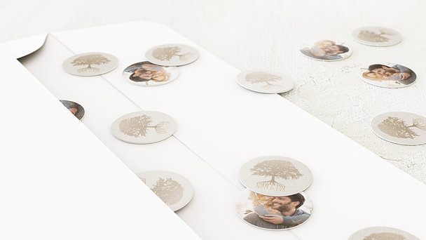 Konfetti im Umschlag - Stammbaum